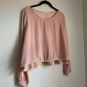 Lush Double Layer Top With Pom